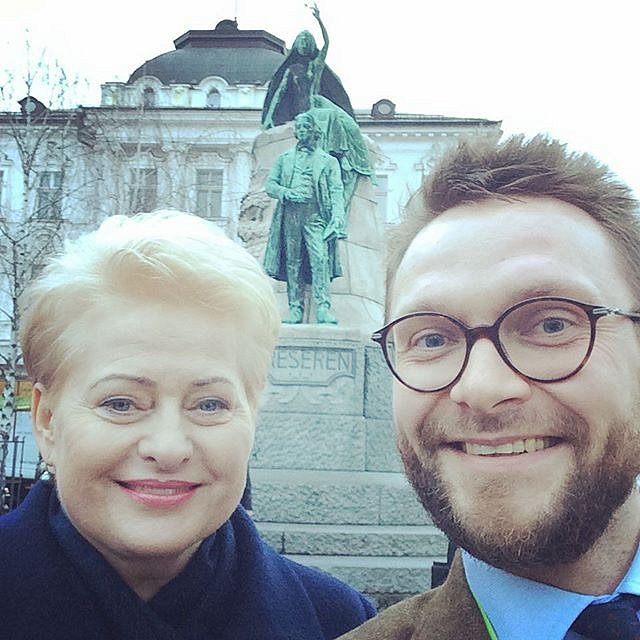 #Special place for first #selfie with the #President #DaliaGrybauskaitė #Liubliana #Ljubljana memories of #Eurobasket2013